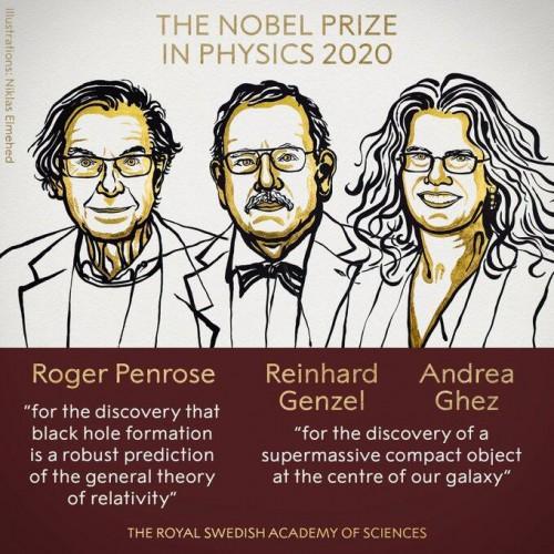 諾貝爾物理學獎:3名科學家因黑洞研究以及發現銀河系中心超大質量緻密天體獲獎
