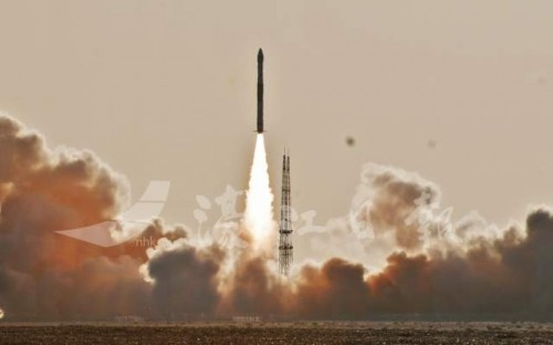 中國快舟一號甲火箭 「一箭雙星」發射成功