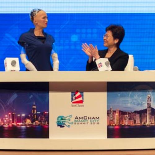 林鄭月娥對話全球首位人工智能公民